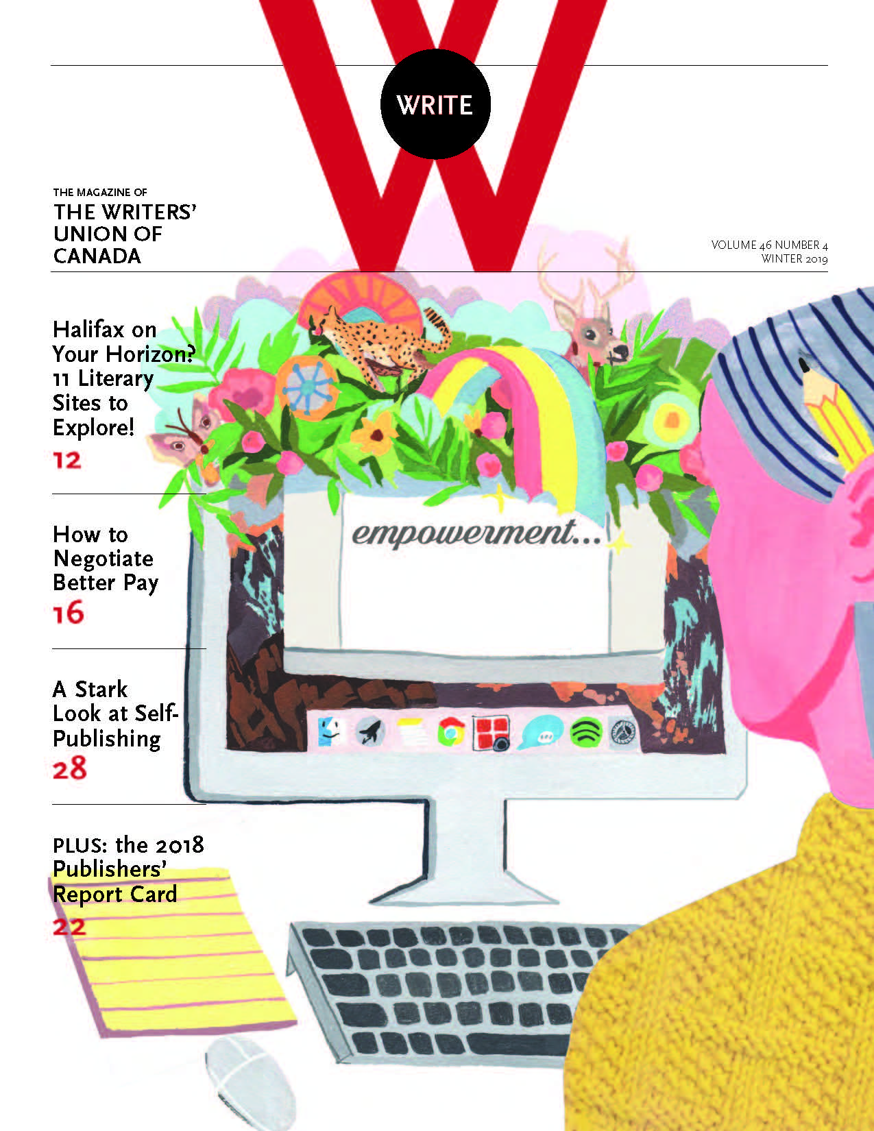 Cover of WRITE Winter 2019