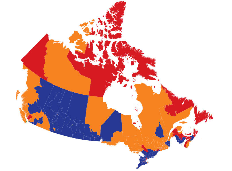 Canada Election Polls Map What's Happening in My Riding? | The Writers' Union of Canada